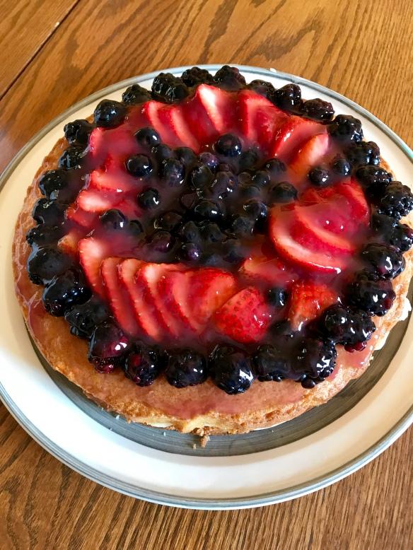 Boston Cream with fruit