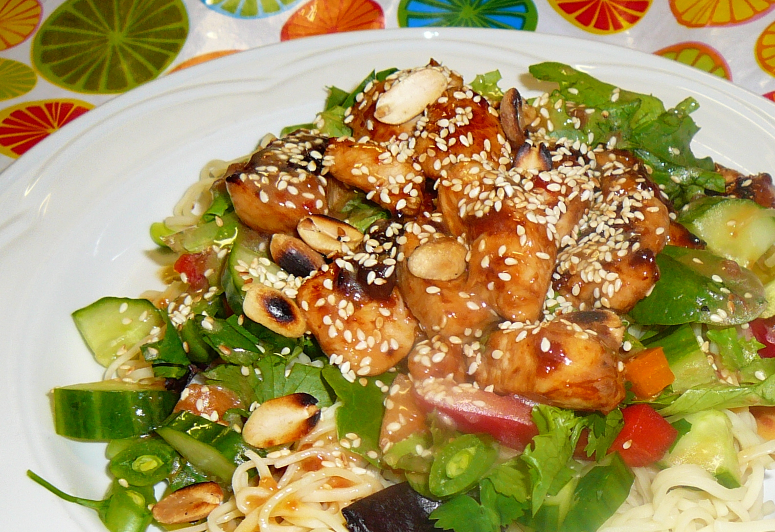 THAI STYLE SWEET AND SPICY CHICKEN SALAD | chattykathychatsandcooks