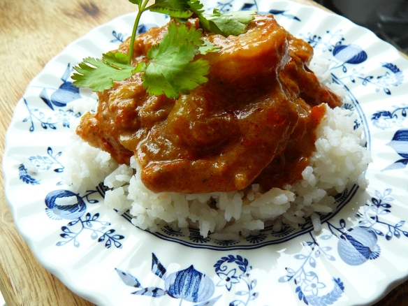 I know the title says chicken curry - but the sauce made an awesome  Prawn Masala another day!