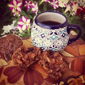 morning muffins with coffee