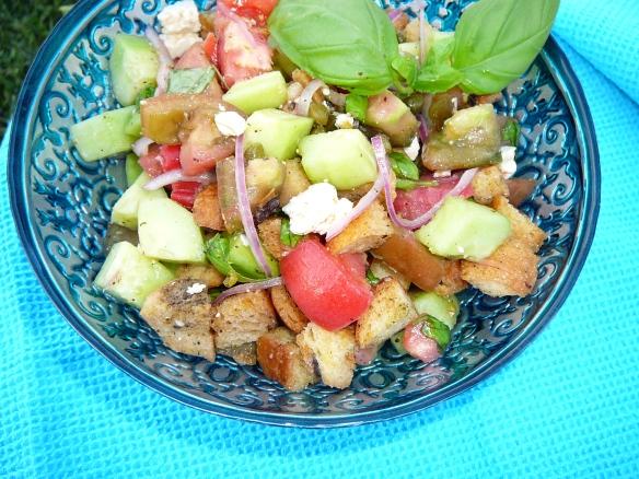panzenella italian bread salad 2