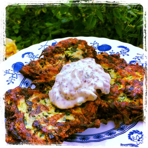 Zucchini Fritters with Lemon Herb Aioli