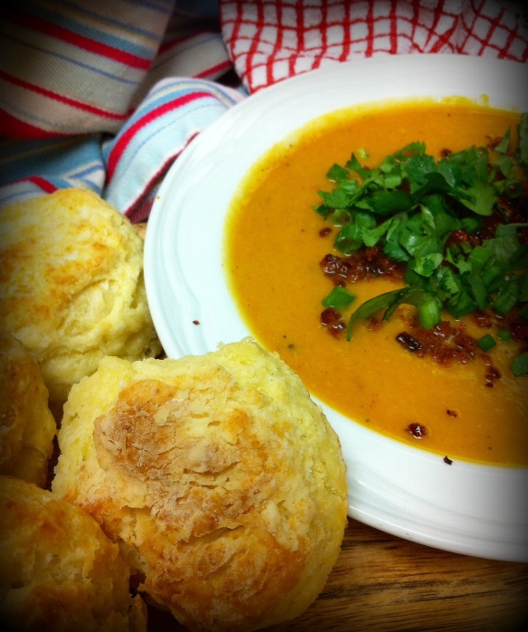Chipotle Chorizo Squash Soup