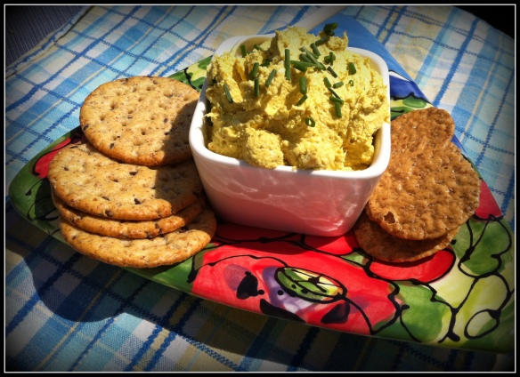 Curried crab dip