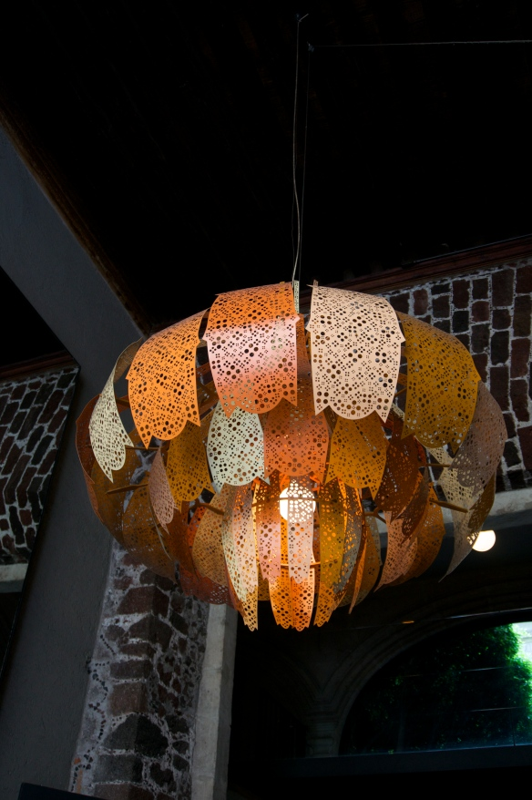 and … right above Wilson and Grant is this gorgeous light fixture!