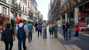 Love these pedestrian streets in Mexico City - leading from Zocalo all the way to Palace of Fine Arts