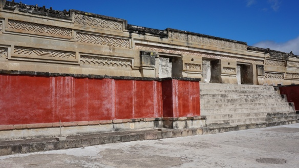 Mitla - it is amazing how vivid the red is, and so easy to imagine how impressive this whole place looked at it's prime.
