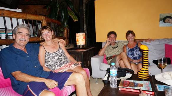 The waiting lounge at La Providencia in Zipolite - comfy place to sit with your drink until dinner is ready.