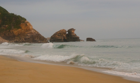 """If you look at the middle rock formation you will see """"la ventanilla"""" …."""
