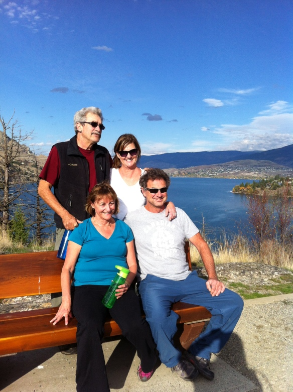Hiking in Vernon, Kal Lake in the background - can't believe the beautiful weather in October but we are raring to head out to Mexico.