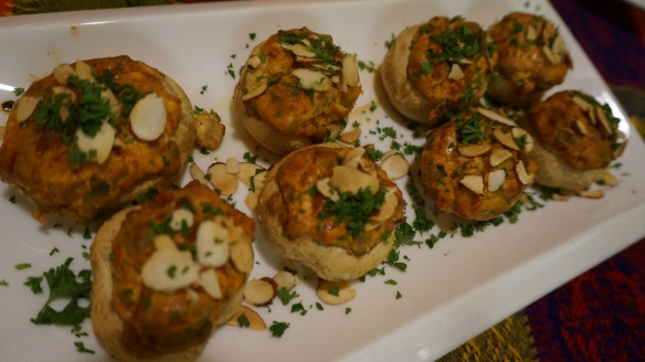 Creamy and delicious stuffed mushroom caps
