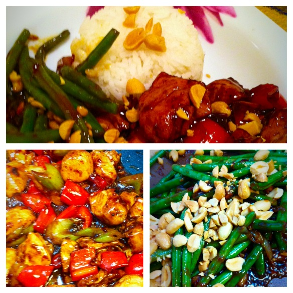 Szechuan Green Beans with Kung Pao Chicken