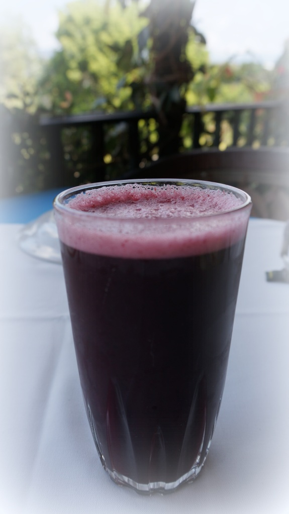 Famous for their fruit water, this zarzamora fresco (blackberry) was so refreshing.