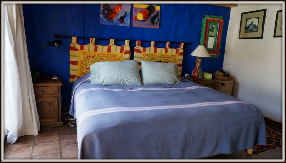Our blue room at Casa de Nana Ree - king size bed and private bathroom.