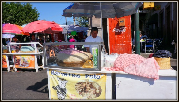 "Here it is - your ""go to"" carnita cart in Quiroga, Michoacan - Carnitas Polo."