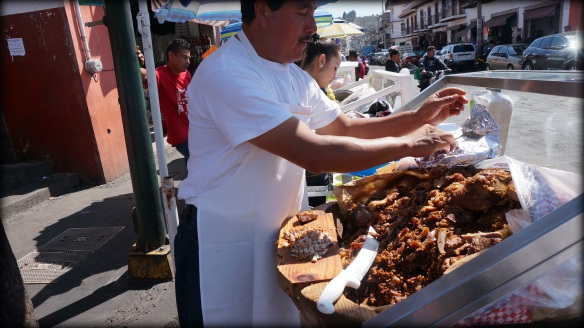 Every single one of the vendors had this much pork under cover - absolutely delicious and mouth waveringly tender.