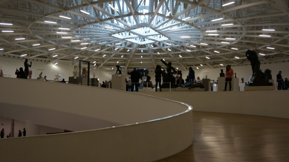 Interior - the entire upper floor filled with the most incredible sculptors work.
