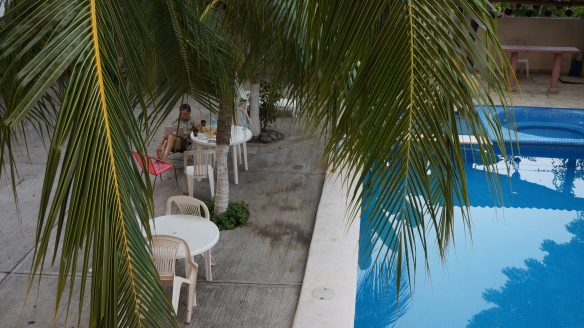 Poolside at Hotel Fiesta Paraiso - pretty easy way to relax after a busy day at the beach ...
