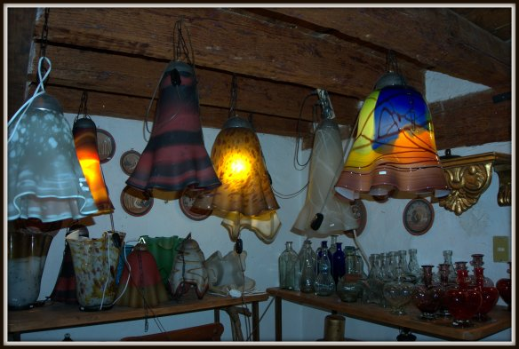 Patzcuaro is well known for their handicrafts -these beautiful lights are just one example of the amazing art to be found.
