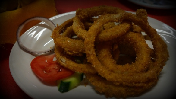First time we have ever seen onion rings on a Mexican menu - given that onions are so delicious here we gave them a try and it was worth it.
