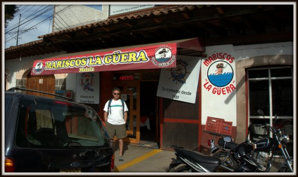 We walked for ages trying to find this place in Patzcuaro - mainly because we took a few wrong turns.