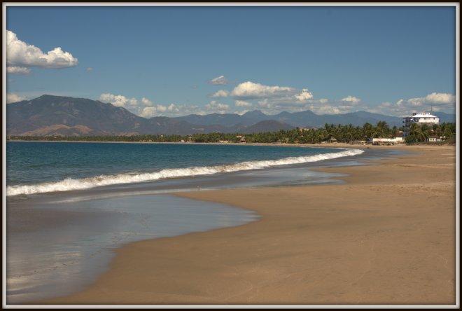 Miles of white sandy beach at Playa Blanca.