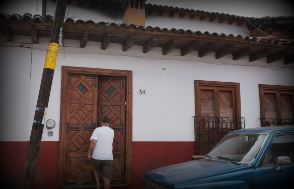 You never know what is behind a doorway in Mexico.  In this instance, our welcoming and comfortable casa was perfect.