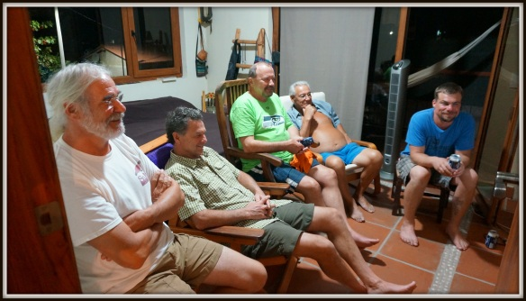 Eugen (host of Villas Tuparaiso) and his lovely wife Rita graciously hosted the Superbowl in their bedroom - the only place in Barra de Potosi where the boys could watch the game.