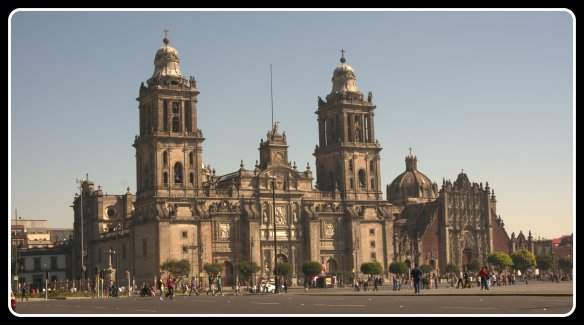 I think this is one of the best photos I have managed to get of the cathedral at the zocalo in Mexico City - no protests going on, no ice hockey set up, no crowds.