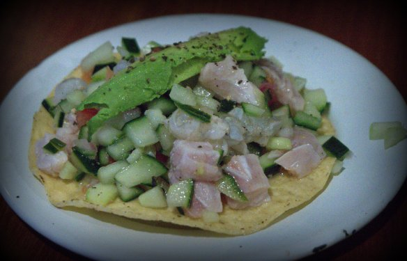 This Sinaloan style ceviche served on a tostado was equally fabulous.