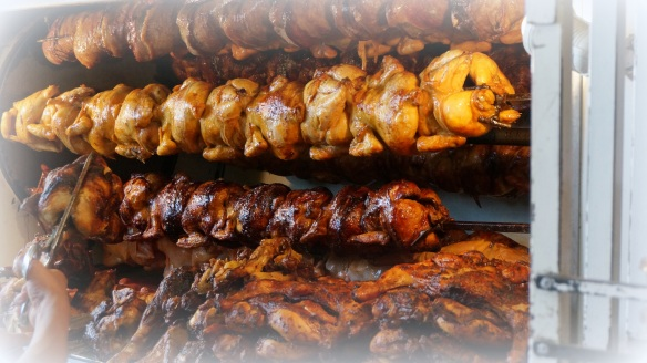 Still in the mercado?  Pick up anything from the rotisserie master - pork shanks and chicken grilled to perfection.