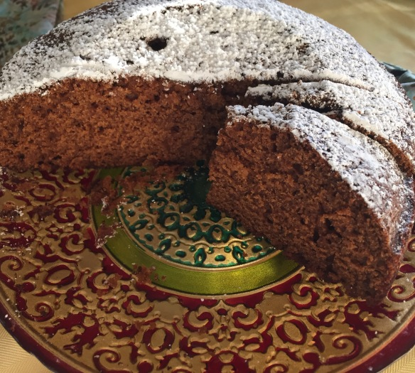 Made for Auntie Brigette's 88's birthday dinner, this moist delicious ginger cake was delicious - thanks Vivi!