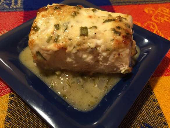 Moist, flaky and delicious halibut served with Caper Beurre Blanc.