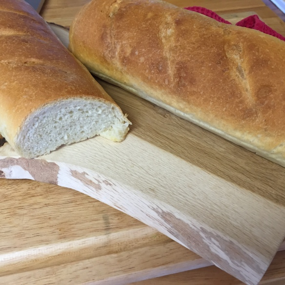 The house smells amazing and when you pull this french bread out of the oven you will have a hard time waiting for it to cool down enough to slice.