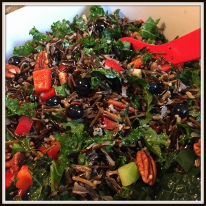 We were delighted when Tory produced this deliciously colorful salad.