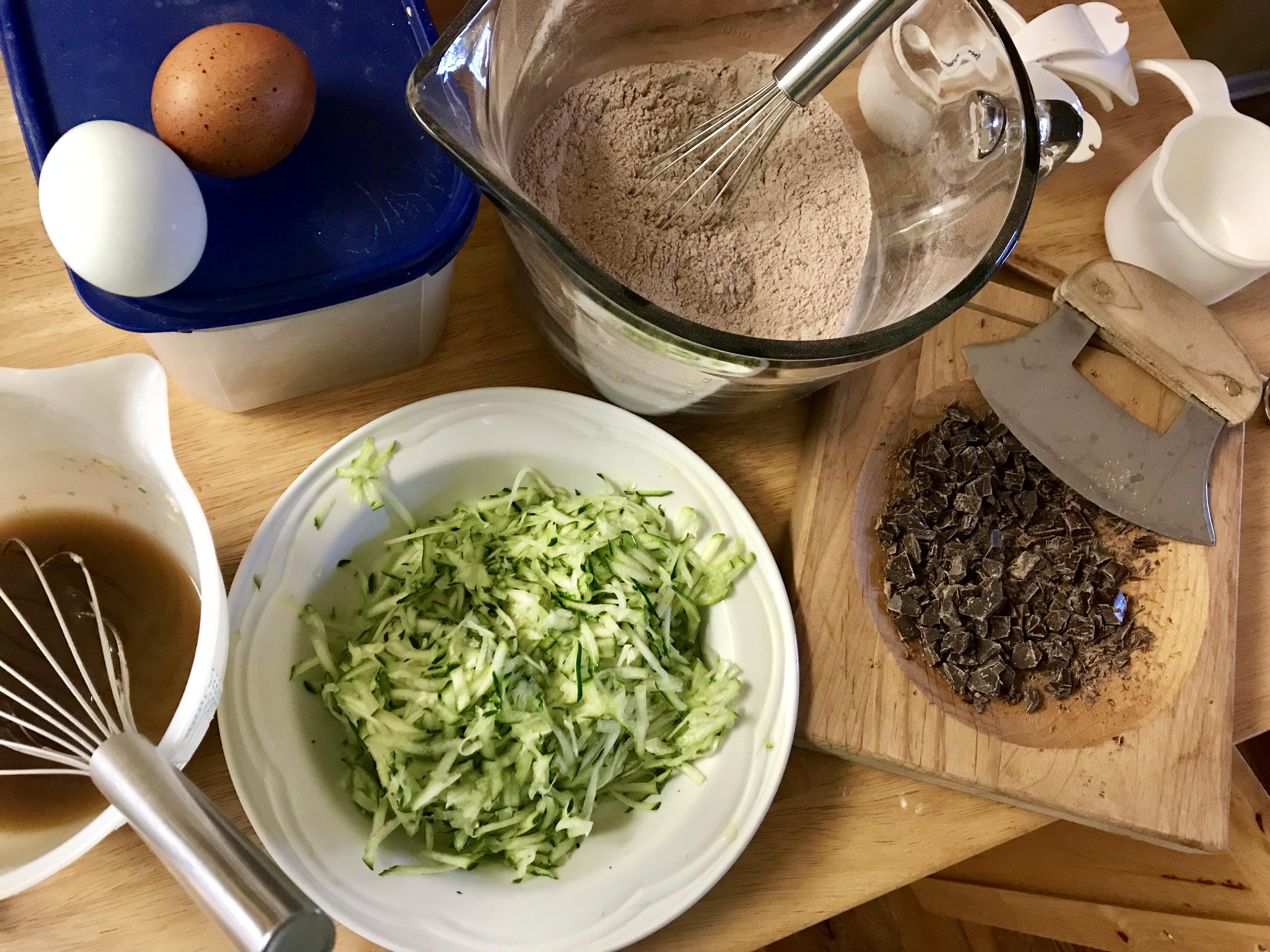 Chocolate Chunk Zucchini Loaf