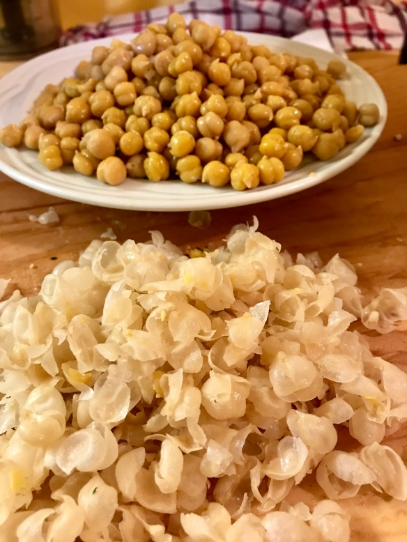 peeled chickpeas