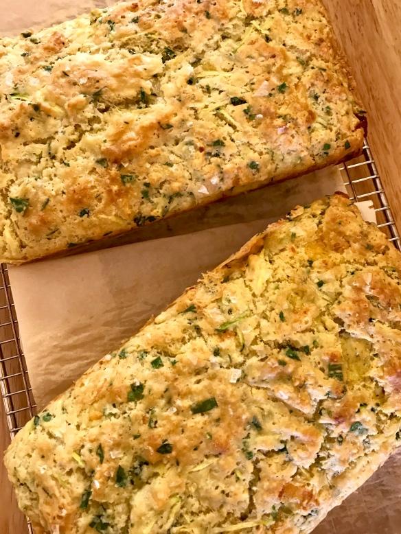 Cheesy zucchini herb loaf 4