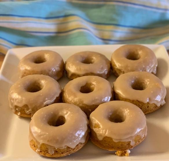 Pumpkin donuts 1