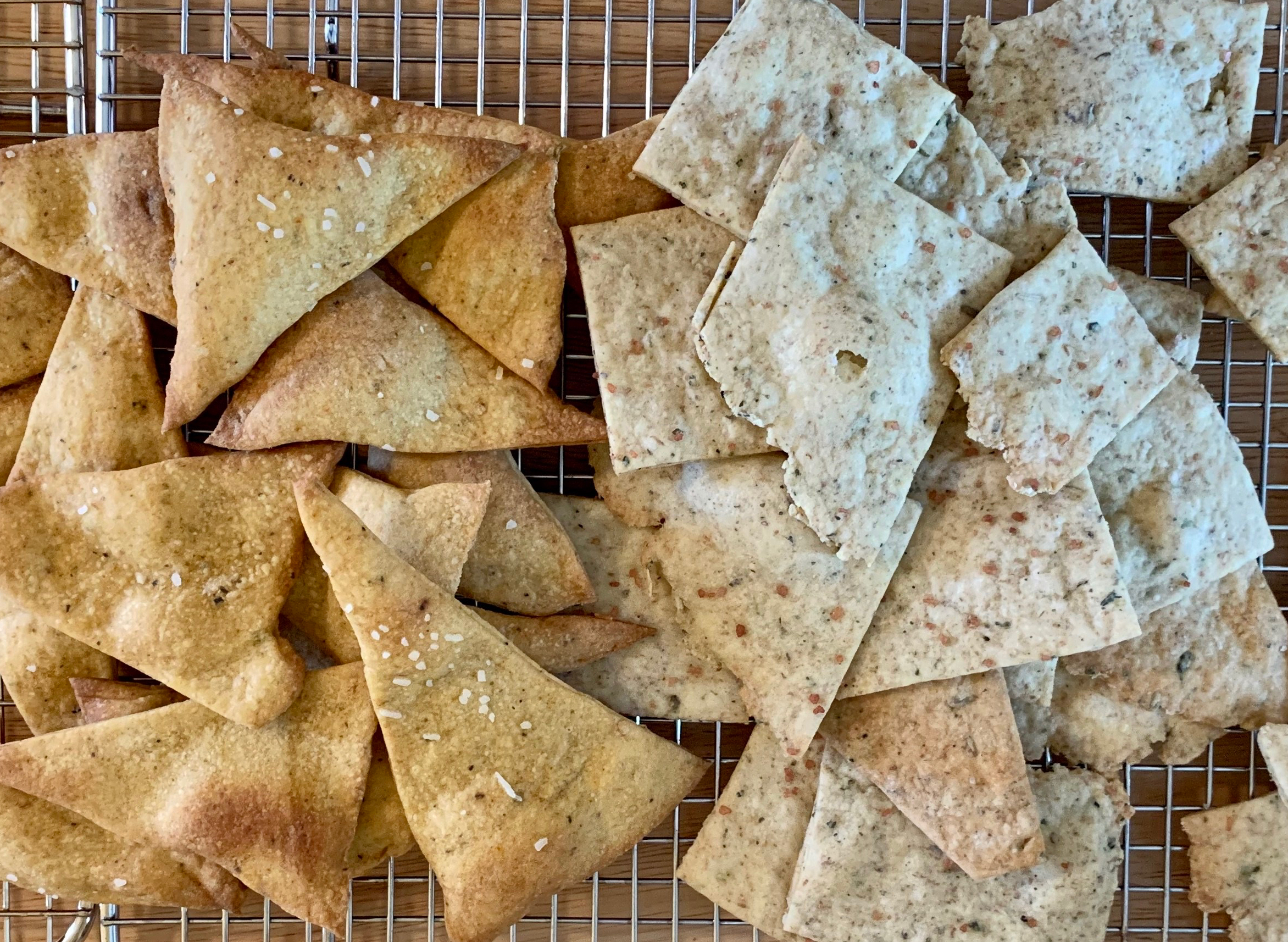 Sourdough crackers 5